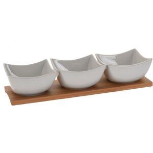 4-dielna porcelánová sada na pochutiny