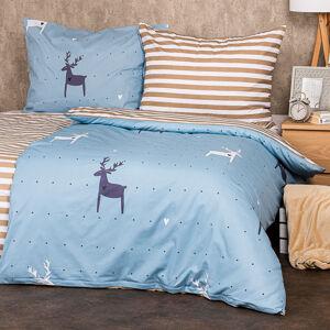 4Home Bavlnené obliečky Deer love, 220 x 200 cm, 2 ks 70 x 90 cm