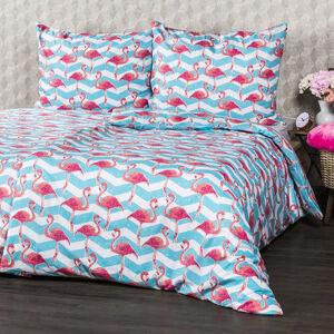 4Home Bavlnené obliečky Flamingo, 220 x 200 cm, 2 ks 70 x 90 cm, 220 x 200 cm, 2 ks 70 x 90 cm