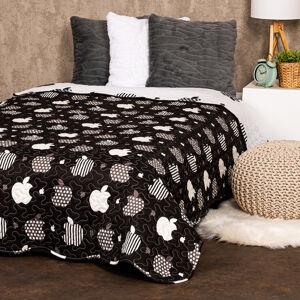 4Home Přehoz na postel Black fruit, 140 x 220 cm