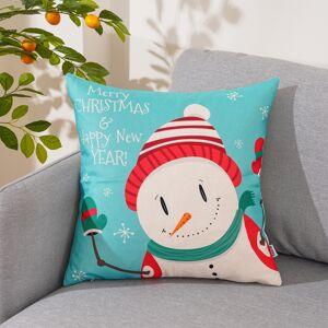4Home Vianočná obliečka na vankúšik Happy Snowman, 45 x 45 cm