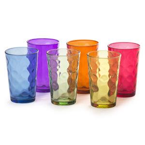 6-dielna sada farebných pohárov, 200 ml