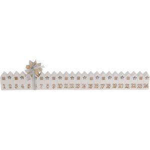 Adventný kalendár House biela, 52 cm