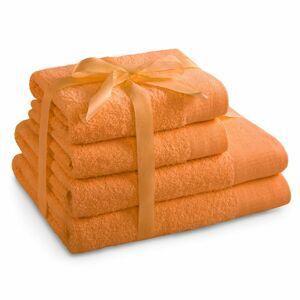 AmeliaHome Sada uterákov a osušiek Amari oranžová, 2 ks 50 x 100 cm, 2 ks 70 x 140 cm