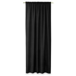 AmeliaHome Záves Oxford Pleat čierna, 140 x 250 cm