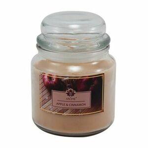 Arome Veľká vonná sviečka v skle Apple and Cinnamon, 424 g