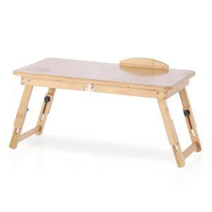 Bambusový stolík na notebook so zásuvkou Ryker, 25 x 30 x 50 cm