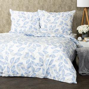Trade Concept Bavlnené obliečky Blue leaves, 140 x 220 cm, 70 x 90 cm