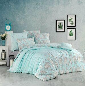 BedTex Bavlnené obliečky Hostid mentolová, 140 x 200 cm, 70 x 90 cm