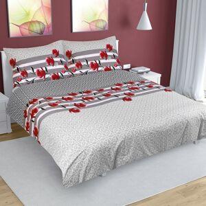 Bellatex Bavlnené obliečky Krík sivá, 240 x 220 cm, 2 ks 70 x 90 cm