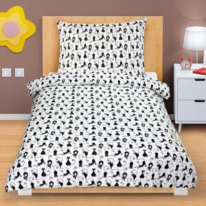 Bellatex Bavlnené obliečky Mačky, 140 x 200, 70 x 90 cm
