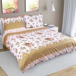 Bellatex Bavlnené obliečky Ruže hnedá, 200 x 220 cm, 2ks 50 x 70 cm