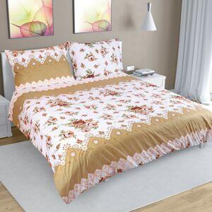 Bellatex Bavlnené obliečky Ruže hnedá, 240 x 200 cm, 2 ks 70 x 90 cm