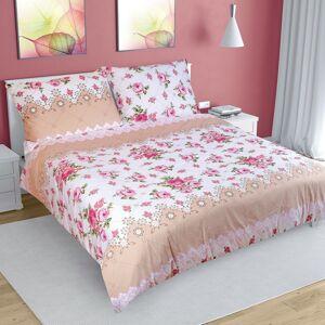 Bellatex Bavlnené obliečky Ruže ružová, 220 x 200 cm, 2 ks 70 x 90 cm