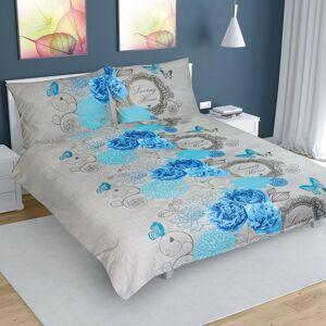 Bellatex Bavlnené obliečky ruže modrá