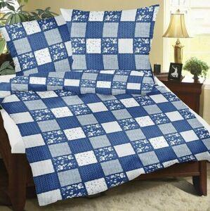 Bellatex Bavlnené obliečky Patchwork modrá, 140 x 220 cm, 70 x 90 cm