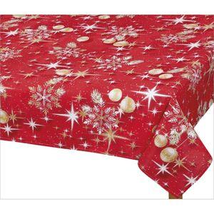 Bellatex Obrus Vianočné zlaté gule, 100 x 100 cm