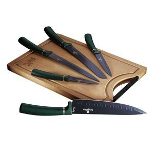Berlinger Haus Sada nožov s nepriľnavým povrchom + doštička 6 ks Emerald Collection