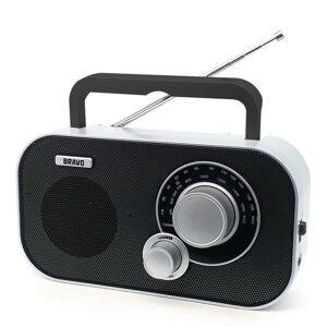 Prenosné rádio Bravo B-5184 ČIERNO STRIEBORNÁ