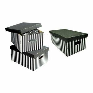 Compactor Sada 3ks skladacích kartónových krabíc Compactor - 52 x 29 x 20 cm