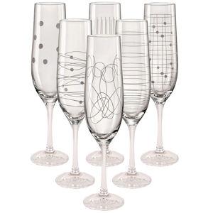 Mäser 6-dielna Sada pohárov na šampanské Elements Flauta