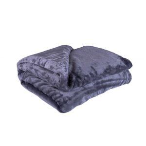 Jahu Deka XXL / Prehoz na posteľ tmavosivá, 200 x 220 cm