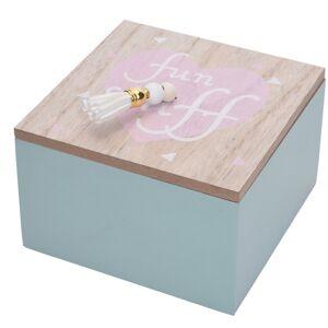 Dekoračný box Nadia modrá, 12 x 12 x 7 cm