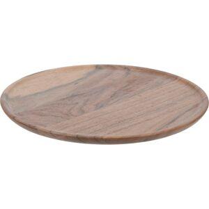 Dekoračný tanier z akáciového dreva, 22 x 1 cm