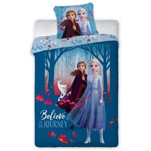 Tiptrade Detské bavlnené obliečky Ľadové Kráľovstvo Anna s Elsou, 140 x 200 cm, 70 x 90 cm