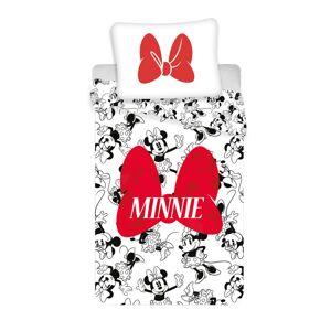 Jerry Fabrics Detské bavlnené obliečky Minnie red bow, 140 x 200 cm, 70 x 90 cm
