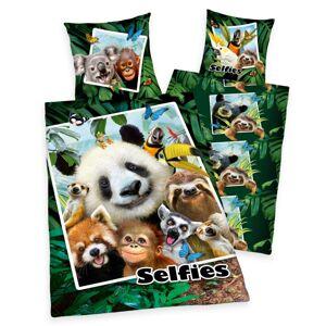 Herding Detské bavlnené obliečky Selfies, 140 x 200 cm, 70 x 90 cm