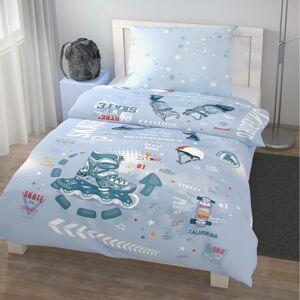 Kvalitex Detské bavlnené obliečky Skate, 140 x 200 cm, 70 x 90 cm