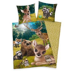 Herding Detské bavlnené obliečky Zvieratká, 140 x 200 cm, 70 x 90 cm