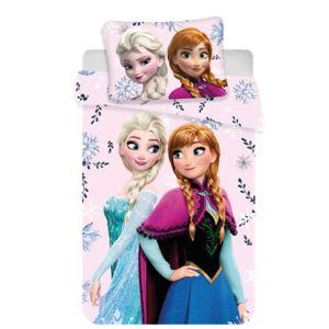 Jerry Fabrics Detské bavlnené obliečky do postieľky Frozen, 100 x 135 cm, 40 x 60 cm