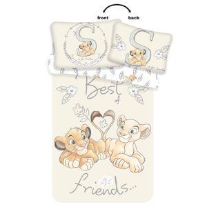 Jerry Fabrics Detské bavlnené obliečky do postieľky Lion King best friends, 100 x 135 cm, 40 x 60 cm