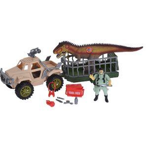 Detský hrací set Dinosaurus trailer, 4 ks