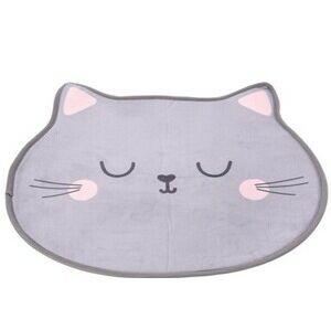 Detský koberec Mačka sivá, 60 x 52 cm