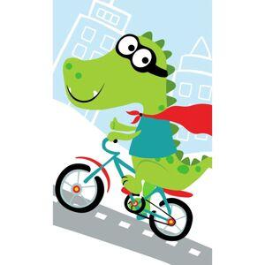 Carbotex Detský uterák Krokodíl na bicykli, 30 x 50 cm