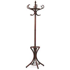 Drevený stojanový vešiak tmavohnedá, 52 x 186 cm
