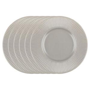 Florina Sada dezertných tanierov Capri, 22 cm, 6 ks, hnedá