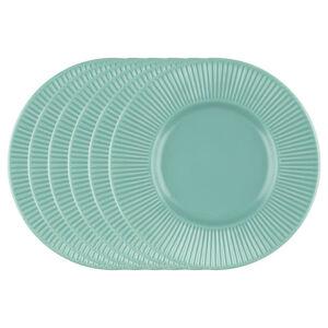 Florina Sada dezertných tanierov Capri, 22 cm, 6 ks, tyrkysová