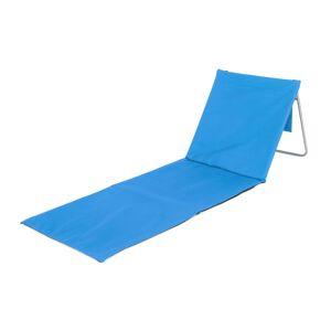 HAPPY GREEN Podložka plážová AUSTIN s oceľovou konštrukciou, modrá 160x54cm