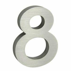 Hliníkové číslo 3D brúsený povrch RN.100LV.8.AL.3D