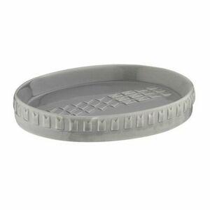 Kela Miska na mydlo LENORA porcelán sivá