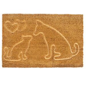 Trade Concept Kokosová rohožka Mačka a pes, 40 x 60 cm