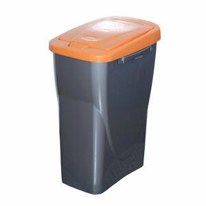 Kôš na triedený odpad 51 x 21,5 x 36 cm, oranžové veko, 25 l