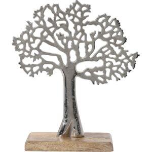 Kovový dekoračný strom, 23 x 8 x 27 cm