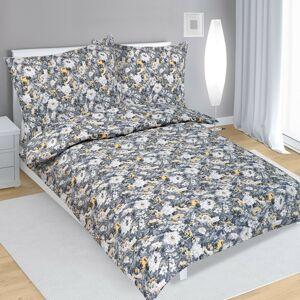 Bellatex Krepové obliečky Dahlia sivá, 140 x 200 cm, 70 x 90 cm
