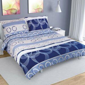 Bellatex Krepové obliečky Elipsa modrá, 200 x 200 cm, 2 ks 70 x 90 cm