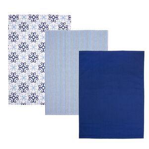 Orion Kuchynská utierka Blue Shapes, 50 x 70 cm, sada 3 ks